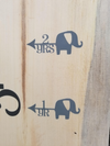 Elephant Height Marking Arrows - Little Prairie Craft Co.
