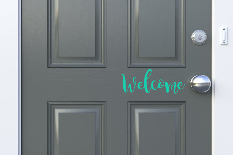 Magnolia Welcome Front Door Decal - Little Prairie Craft Co.