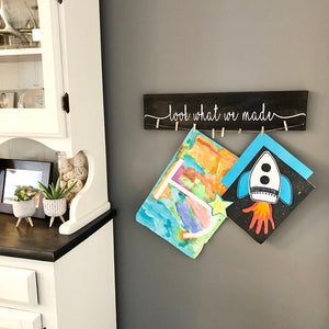 DIY cutie Look what i/we made Child's Artwork decal - Little Prairie Craft Co.