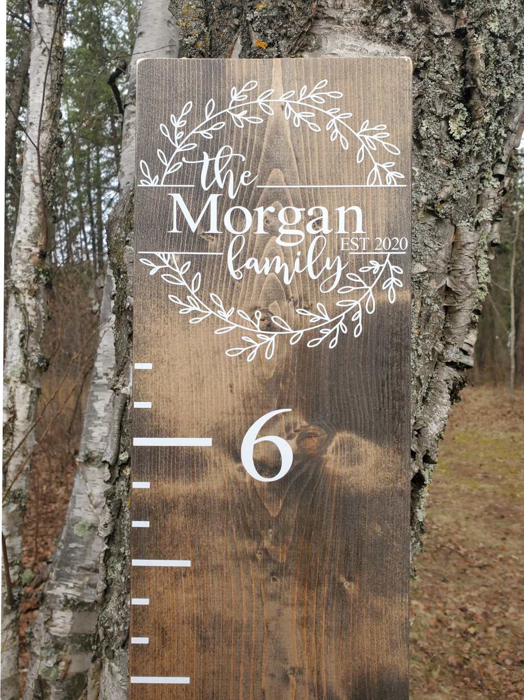 Family Farmhouse Wooden Growth Chart Ruler - Little Prairie Craft Co.