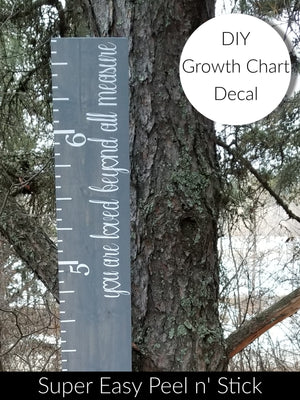 DIY you are loved beyond all measure Growth Chart Vinyl Decal - Little Prairie Craft Co.