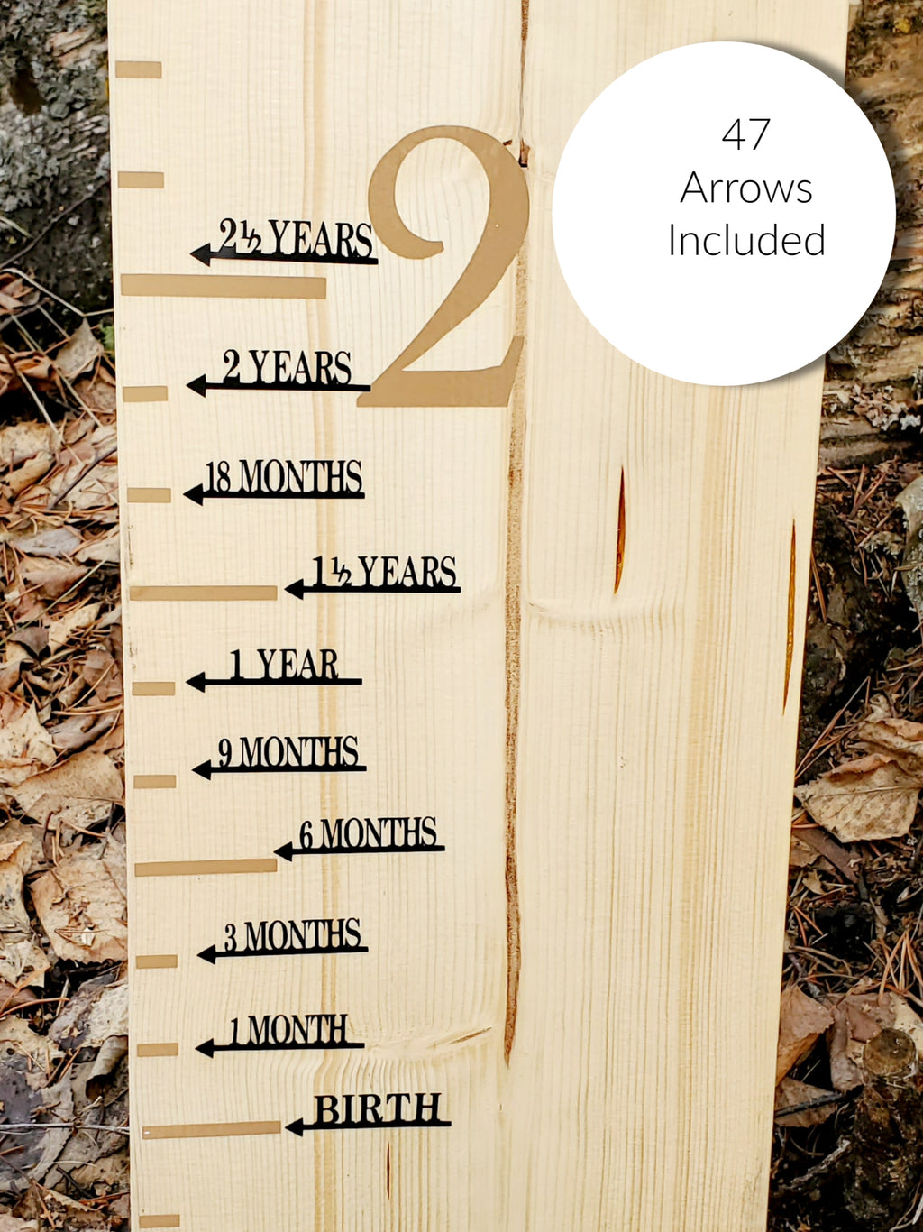 Modern Complete Height Marking Arrows - Little Prairie Craft Co.