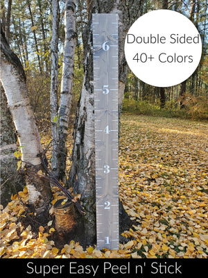 Double Sided Easy DIY vinyl Growth Chart Ruler Kit - Little Prairie Craft Co.