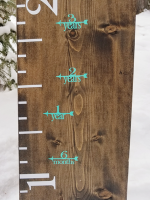 Fancy Height Marking Arrows - Little Prairie Craft Co.