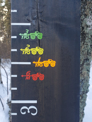Monster Truck Height Marking Arrows - Little Prairie Craft Co.