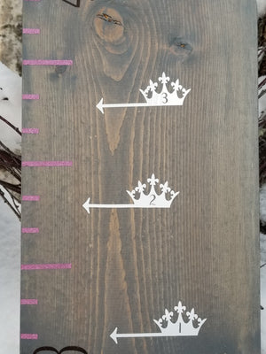 Princess Crown Height Marking Arrows - Little Prairie Craft Co.