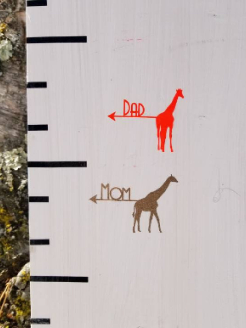Parent Giraffe Height Markers - Little Prairie Craft Co.