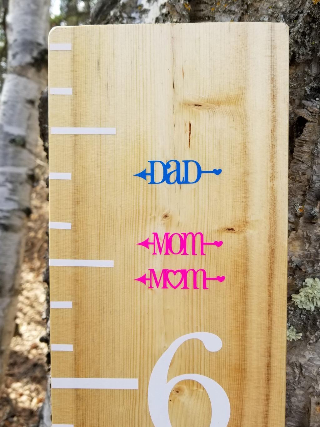 Pretty Little Heart Parent Height Markers - Little Prairie Craft Co.