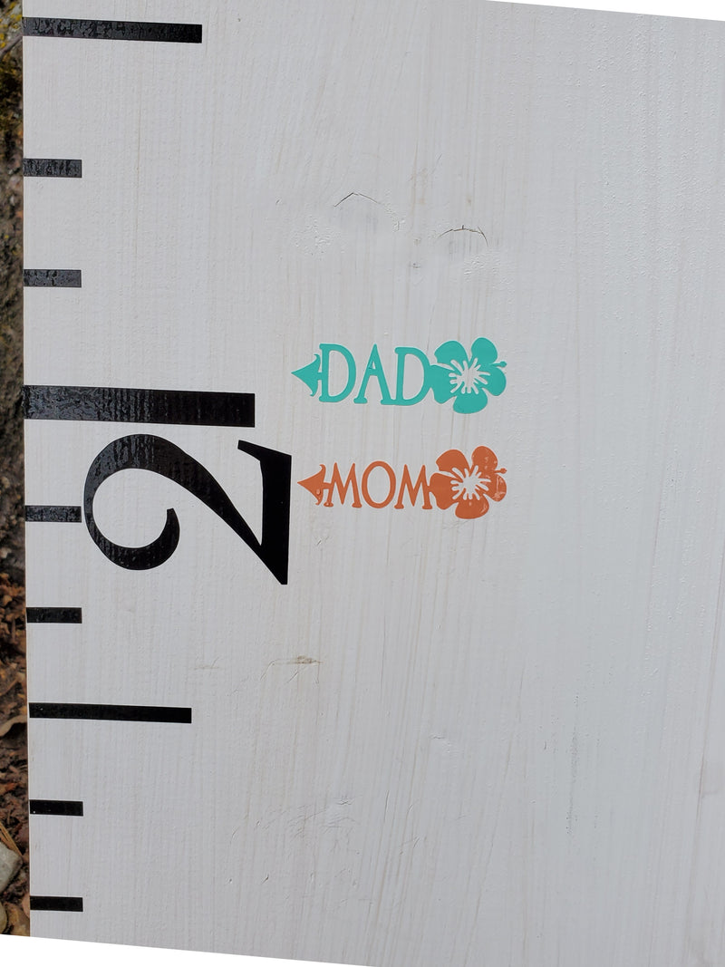Hibiscus Parent Height Markers - Little Prairie Craft Co.