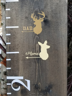 Doe/Buck Parent Height Markers - Little Prairie Craft Co.