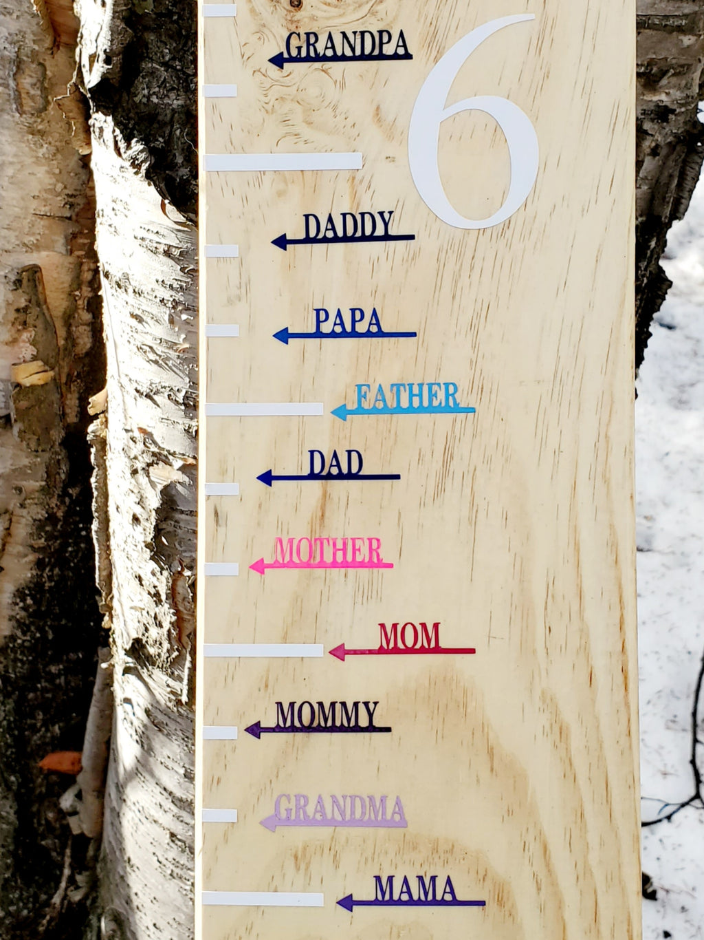 Modern Family Members Height Markers - Little Prairie Craft Co.