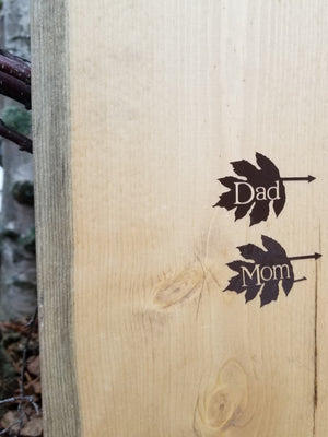 Leaf Parent Height Markers - Little Prairie Craft Co.