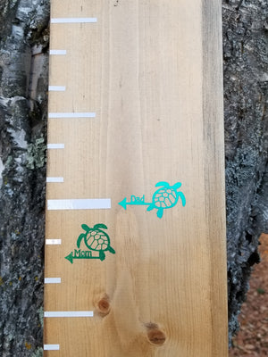 Turtle Parent Height Markers - Little Prairie Craft Co.