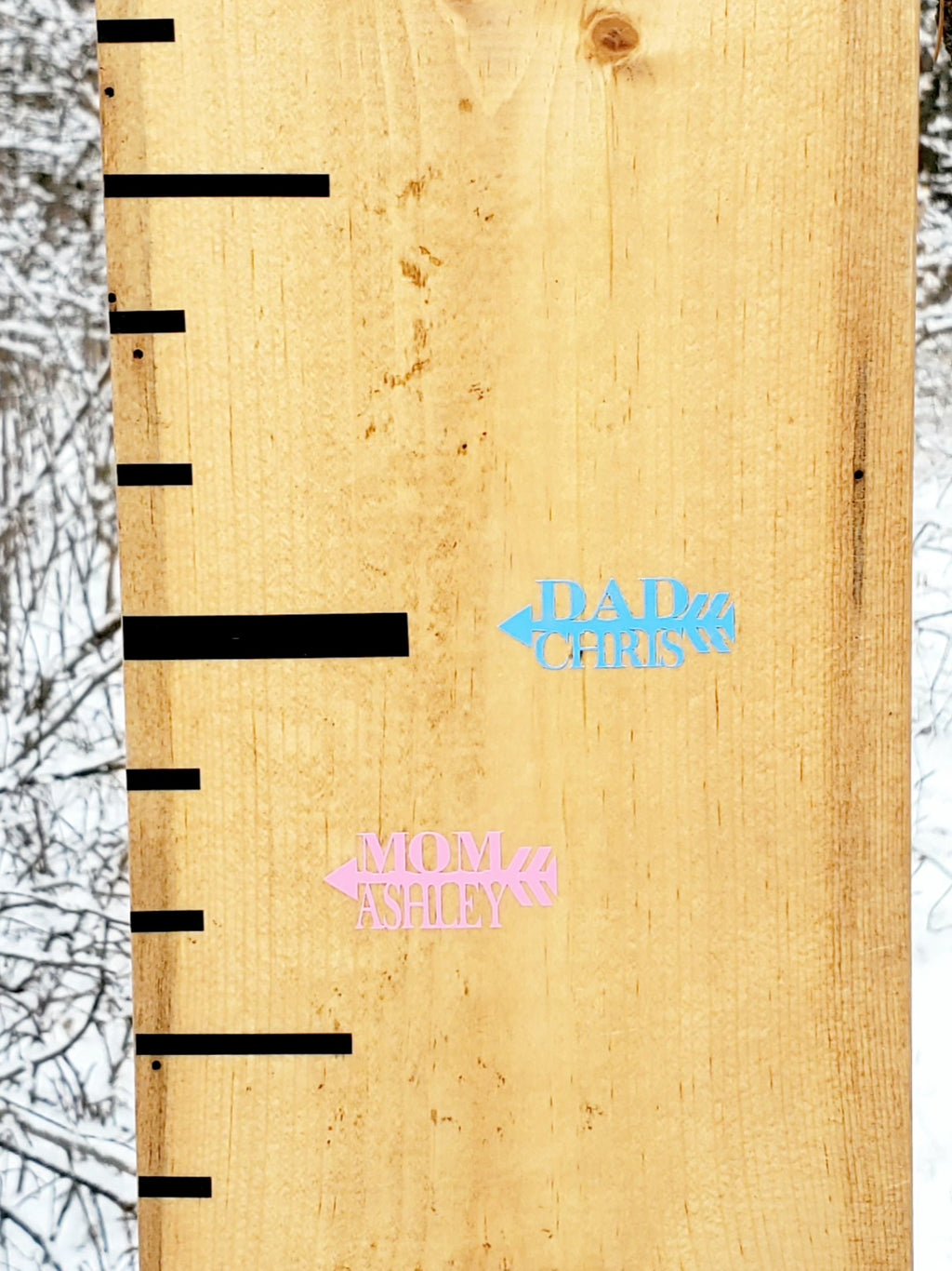 Personalized Parent Height Markers - Little Prairie Craft Co.