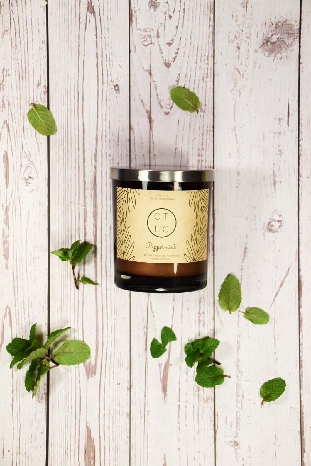 Peppermint Essential Oil candle