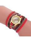 Wrapped Bracelet Snake Skin Woven Quartz Wrist Watch