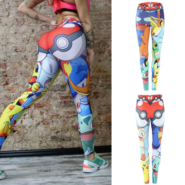 Women Animal Print High Waist Sports Active Yoga Leggings