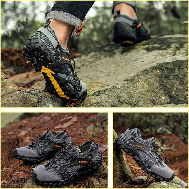 MEN'S MESH BREATHABLE CASUAL SUPER LIGHT OUTDOOR HIKING WATER SHOES