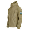 Men's Tactical Windbreaker Waterproof Flight Pilot Hood Coat Military Bomber Jacket