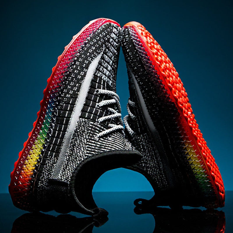 Men Flying Woven Breathable Sports Fitness Shoes