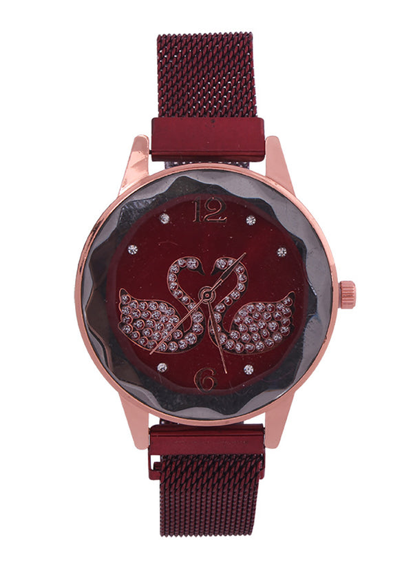 Instagram Web Celeb Stylish Permanent Swan Love Watch