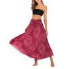Women Long Hippie Bohemian Yoga Skirt Print Gypsy Two-wear Beach Dress