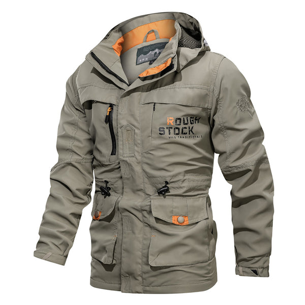 Men's Autumn Winter Outdoor Bomber Multi-pocket Waterproof Military Tactical Windbreaker Flight Jacket