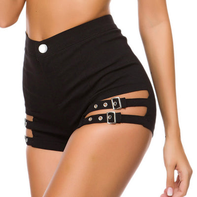 Women High Waist Hot Clubwear Hollow Ripped Shorts