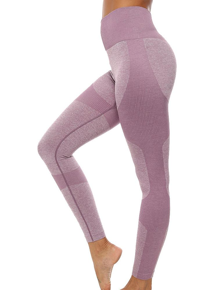 Women Seamless Elastic Tight High Waist Yoga Leggings