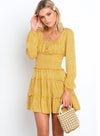 Women Retro Long Sleeve Loose Day Dress