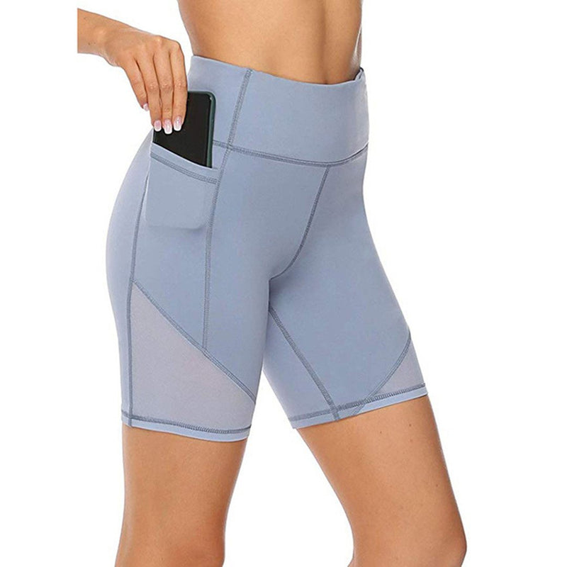Stretch gauze yoga pants side pocket soft slim lift buttocks breathable sports fitness pants(Buy 2 Free Shipping)