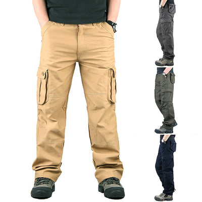 Men's 6 Pockets Military Tactical Cargo Pants Outwear Casual Long Trousers