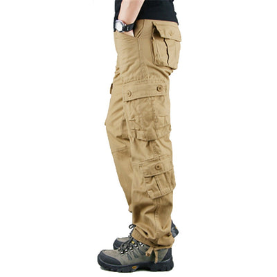 Men's 8 Pockets Military Tactical Cargo Pants Outwear Casual Long Trousers
