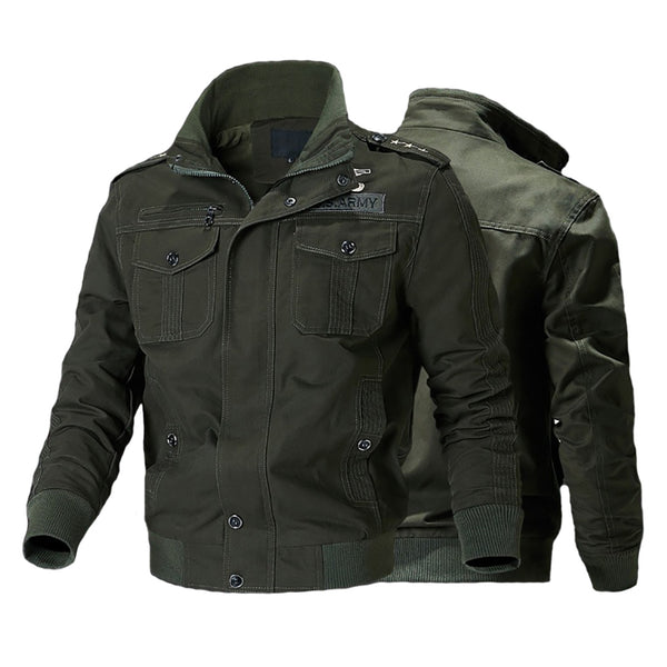 Men's Bomber Flight Tactical Cargo Jacket Army Pilot Military Overcoat