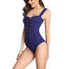 Women One Piece Swimsuit Cutout Eyelet Strings Swimwear