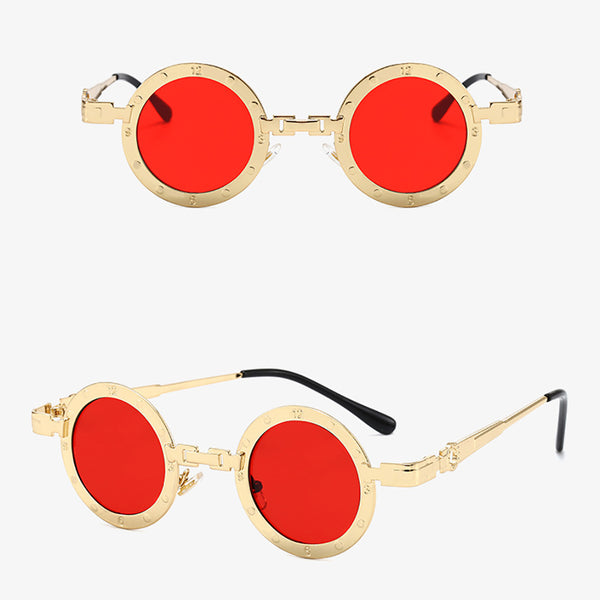 Retro Punk Classic Hippie Round Sunglasses
