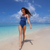 Women Sexy High Waist Halter One Piece Monokini Swimsuit