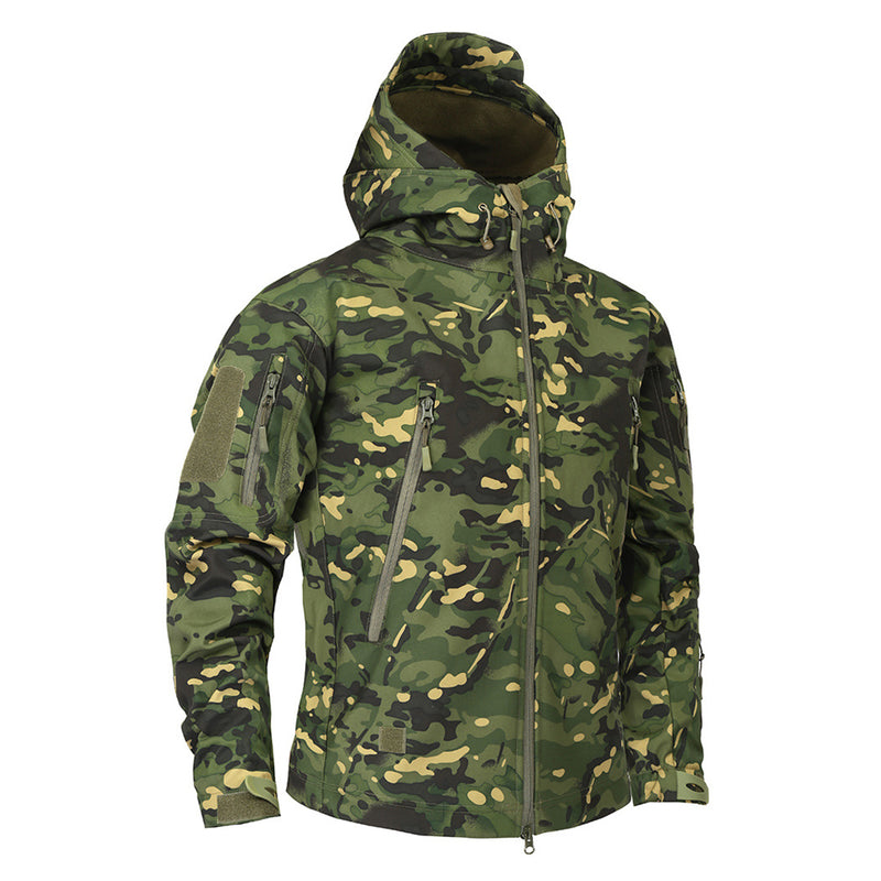Men's Military Multicam Camouflage Fleece Army Tactical Clothing Male Windbreakers Jacket