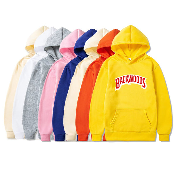 Men's Fashion Autumn Winter Hip Hop Pullover Hoody Streetwear Backwoods Hoodie Sweatshirt