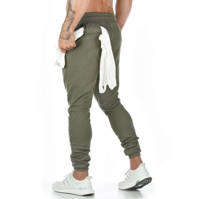 Men's Cotton Sweatpants Fitness Training Suit Multi-pocket Jogger Pants
