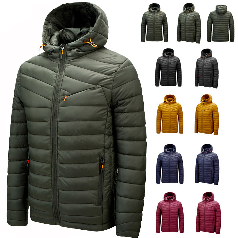 2020 Men's Windbreaker Lightweight Down Jacket Portable Warm Coat
