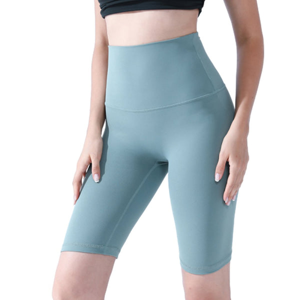 Sharkskin nude women feel no awkward line sports tight shorts peach buttock yoga pants(Buy 2 Free Shipping)