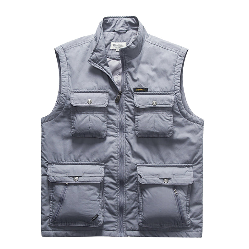 2020 New Style Men's Multi Pockets Waistcoat Outdoor Tactical Vest