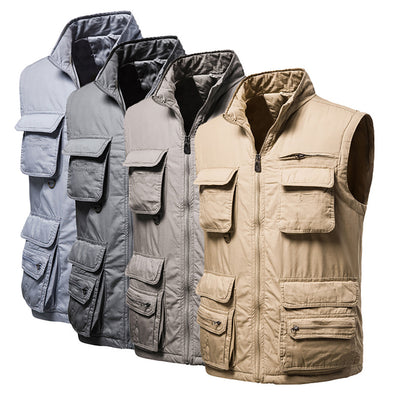 2020 New Style Men's Multi Pockets Zip Waistcoat Outdoor Tactical Vest