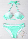 Women's Fashion Gradient Color Shell Bikini Swimwear