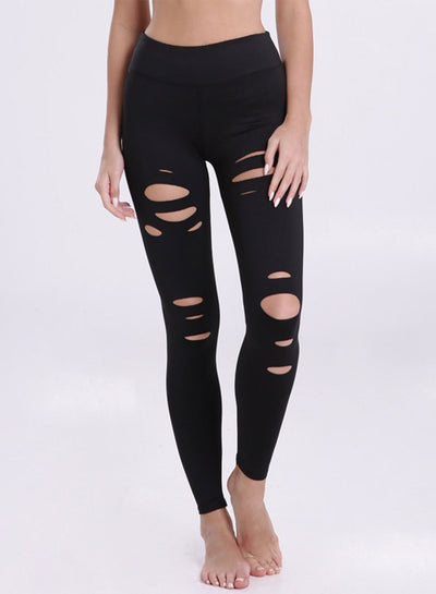 Women's Fashion Hollow out Skinny Fit Sports Leggings