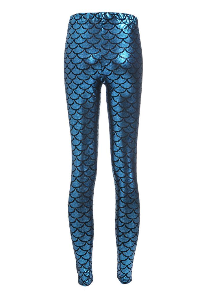 Women's Shining Skinny Fit Fish-scale Leggings