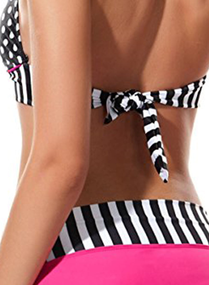 Women's Spagehetti Strap Backless Polka Dots Swimwear