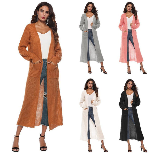 Women Autumn Long Sleeve Open Cape Casual Coat Blouse Kimono Cardigan