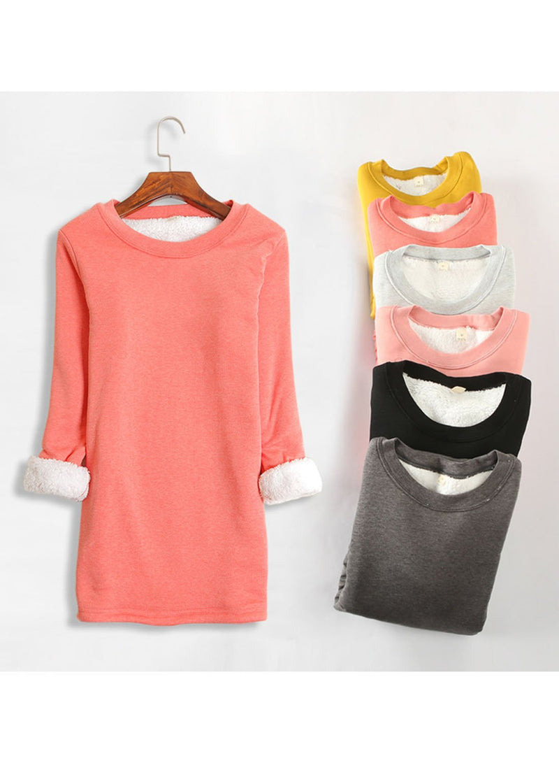 Women Casual Round Neck Cotton-Blend Solid T-shirt